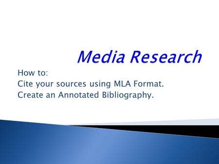 LibGuides: Annotated Bibliography: Sample MLA Annotation